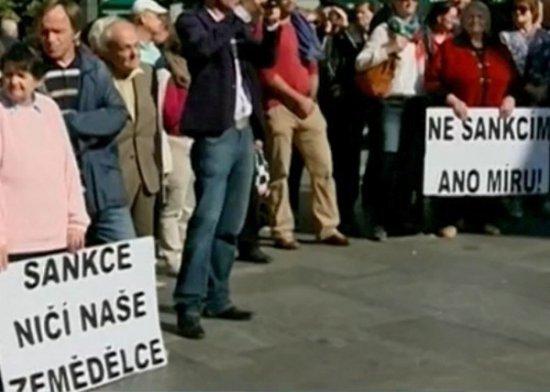 В Праге прошел митинг против антироссийских санкций