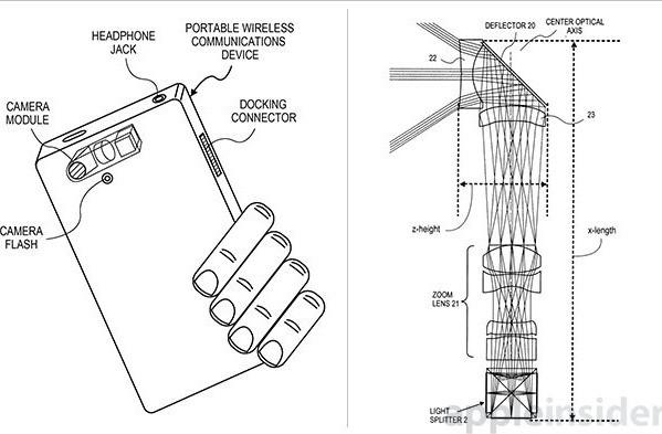 Apple хочет запатентовать камеру с тремя матрицами