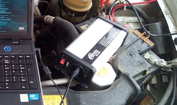 Автомобильный инвертер Ritmix RPI-6001, или как сделать 220 вольт из 12